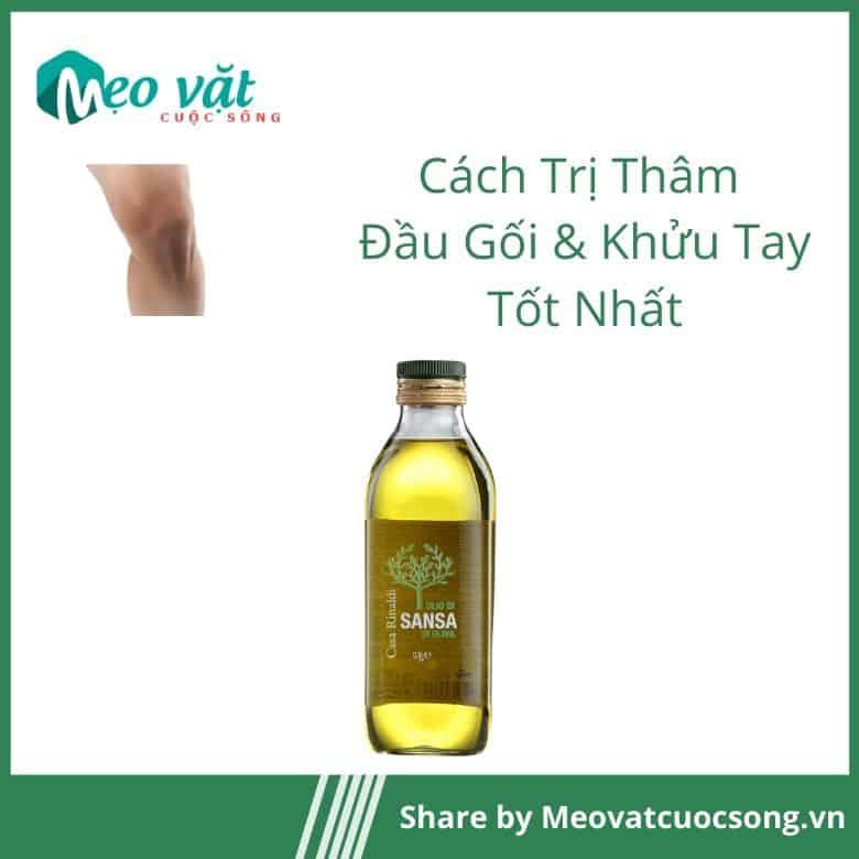 Trị thâm đầu gối khửu tay bằng dầu oliu