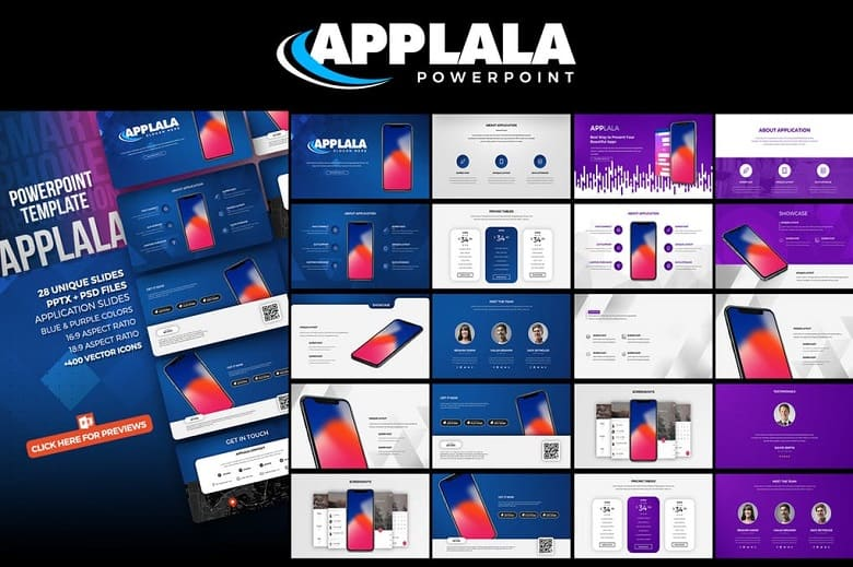Applala Application Showcase Template Powerpoint