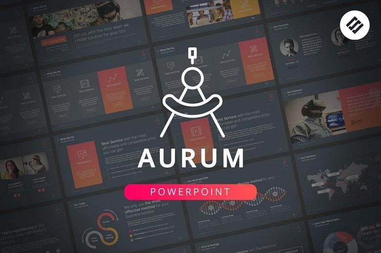 Aurum Powerpoint Template - chuyên nghiệp