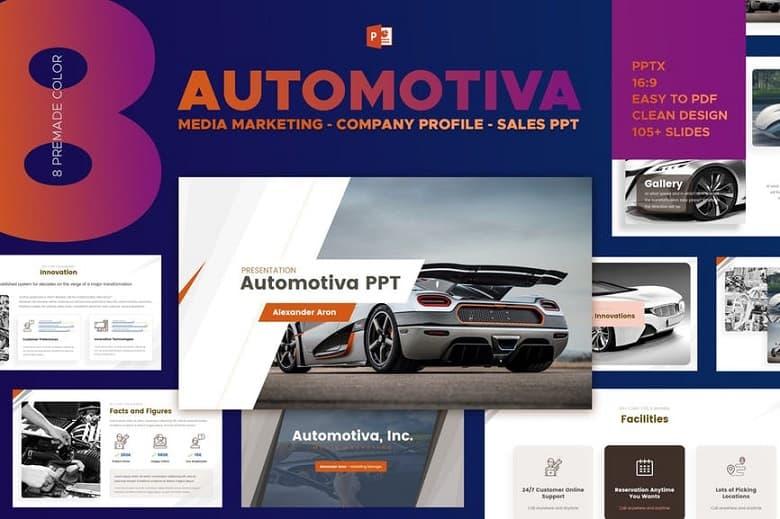 Automotive Media Marketing Powerpoint - oto chuyên nghiệp