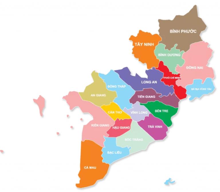 Các tỉnh miền nam Việt Nam