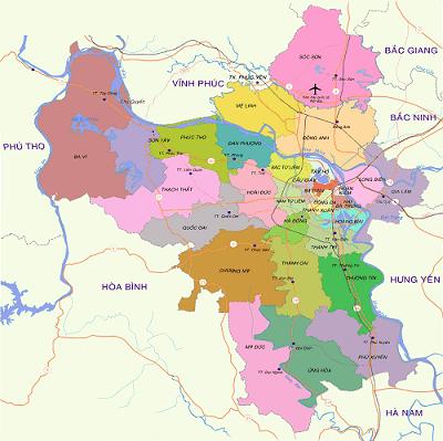 Danh sách quận huyện Hà Nội