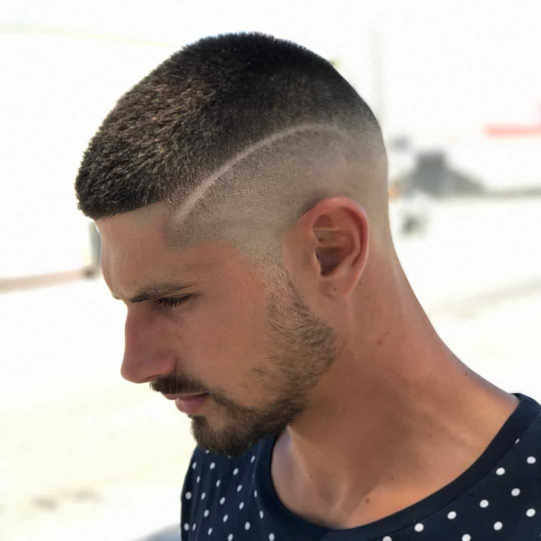 Tóc húi cua: Buzz Cut + Line Up + Fade