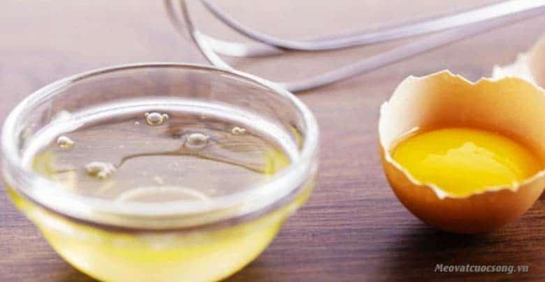 Lòng trắng trứng giúp đánh tan bọng mắt
