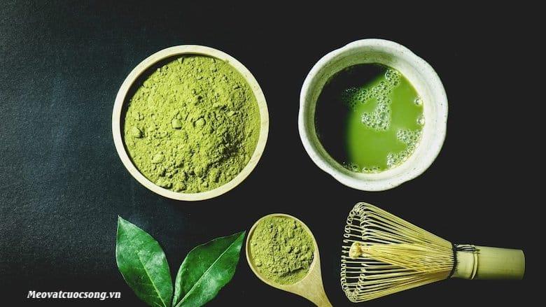 Sử dụng bột trà xanh giảm béo