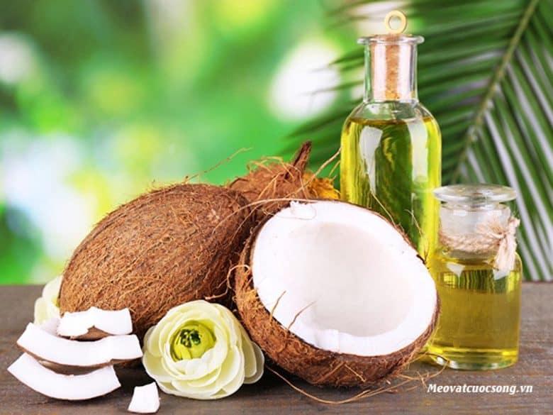 Tinh dầu dừa giúp đánh tan bọng mắt