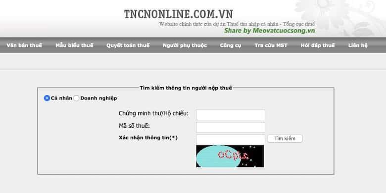 Hướng dẫn tra cứu CMND Online