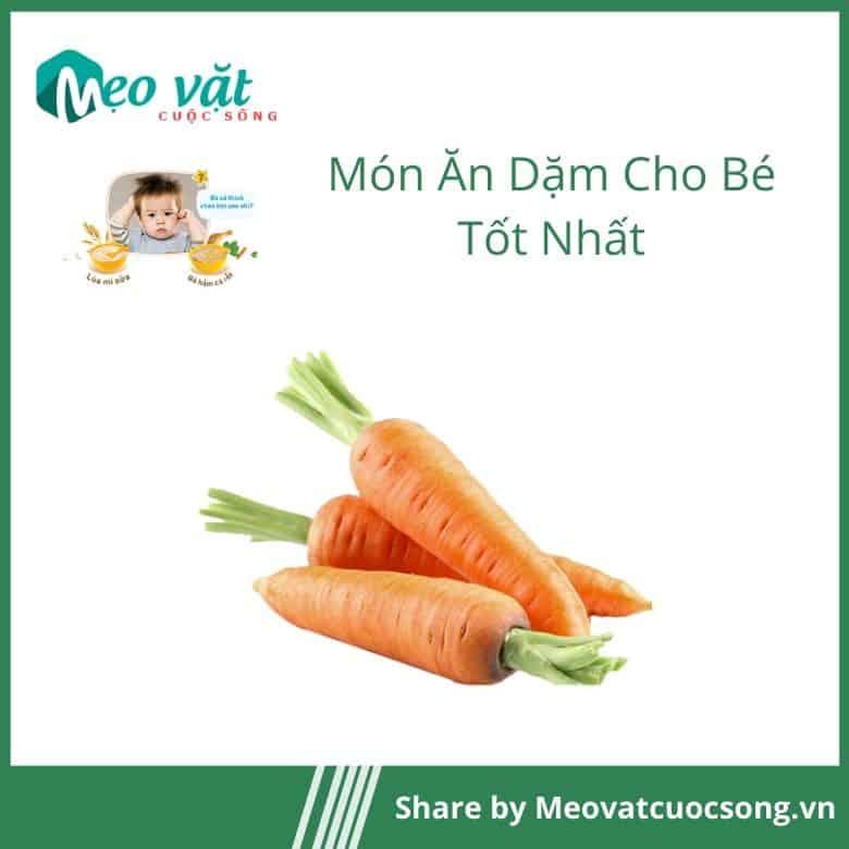 Ăn dặm cho bé bằng cà rốt