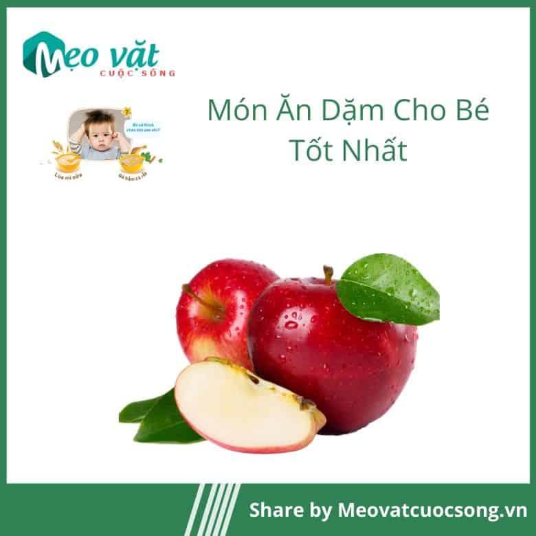 Ăn dặm cho bé bằng táo nghiền