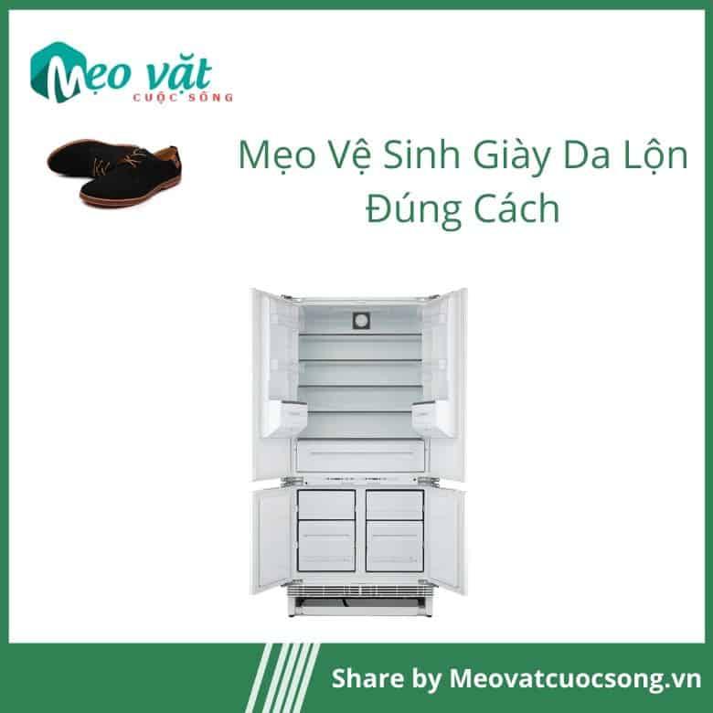 Cách vệ sinh giày da lộn bằng tủ lạnh