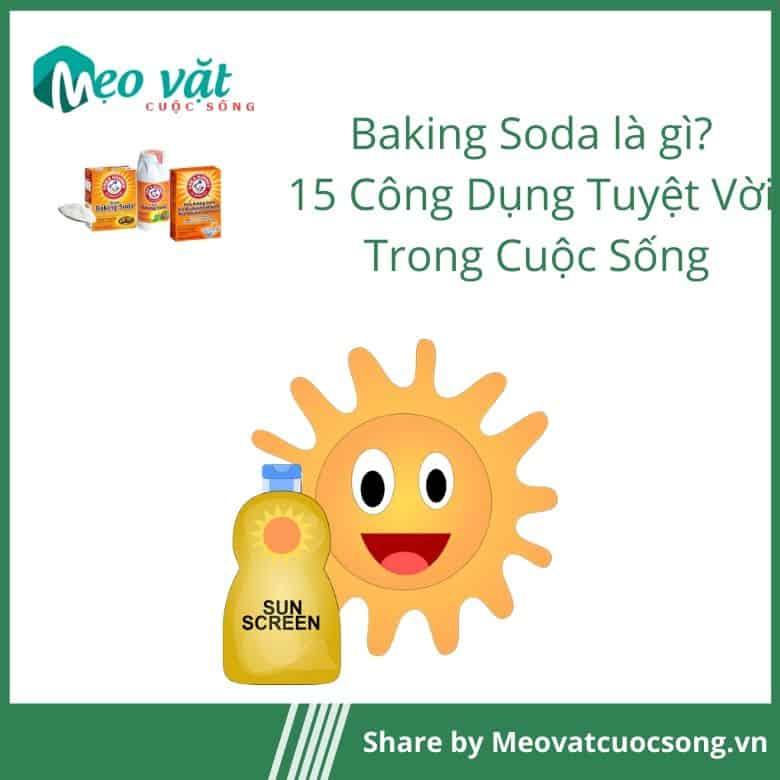 Công dụng của Baking Soda chữa cháy nắng