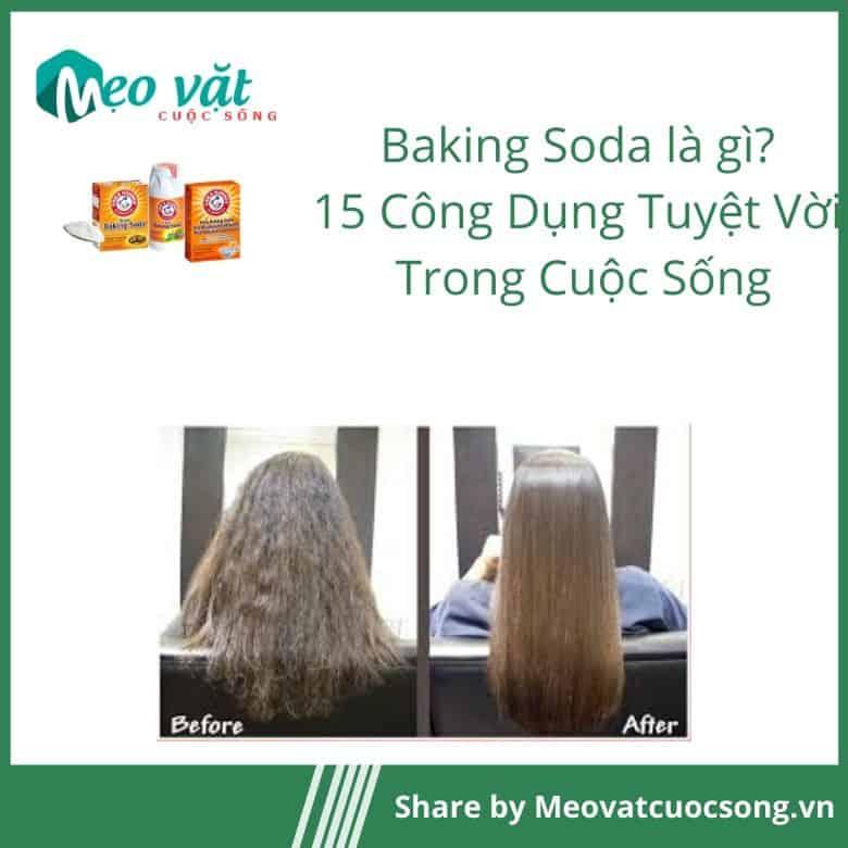 Công dụng của Baking Soda giảm tóc bết