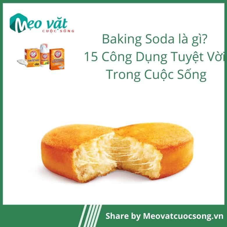 Công dụng của Baking Soda làm nguyên liệu làm bánh