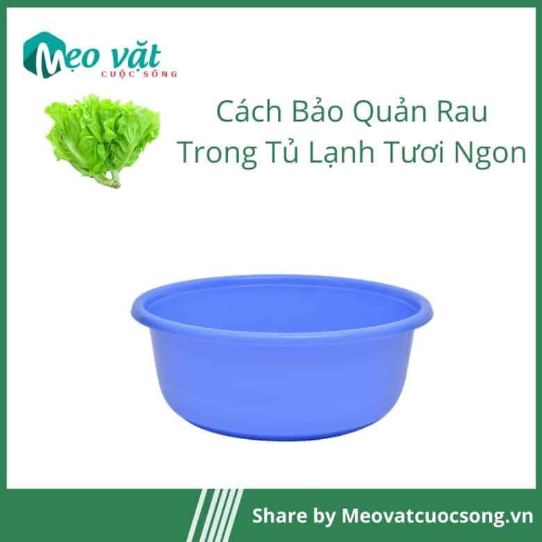 Không để rau ngấm nước trước khi cho vào tủ lạnh