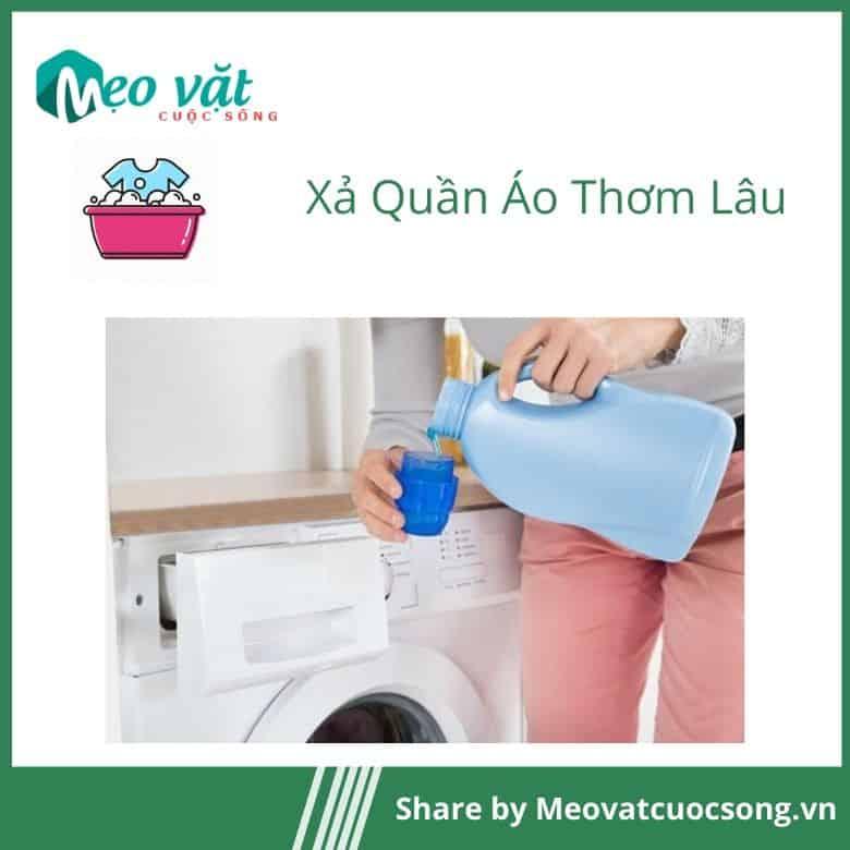 Lượng nước xả phù hợp giúp quần áo thơm lâu