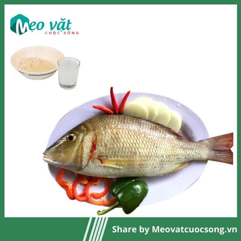 Nước vo gạo khử mùi tanh của cá