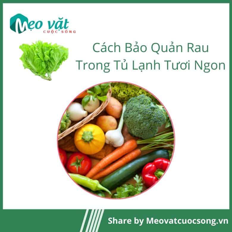 Phân chia các loại rau củ trước khi cho vào tủ lạnh