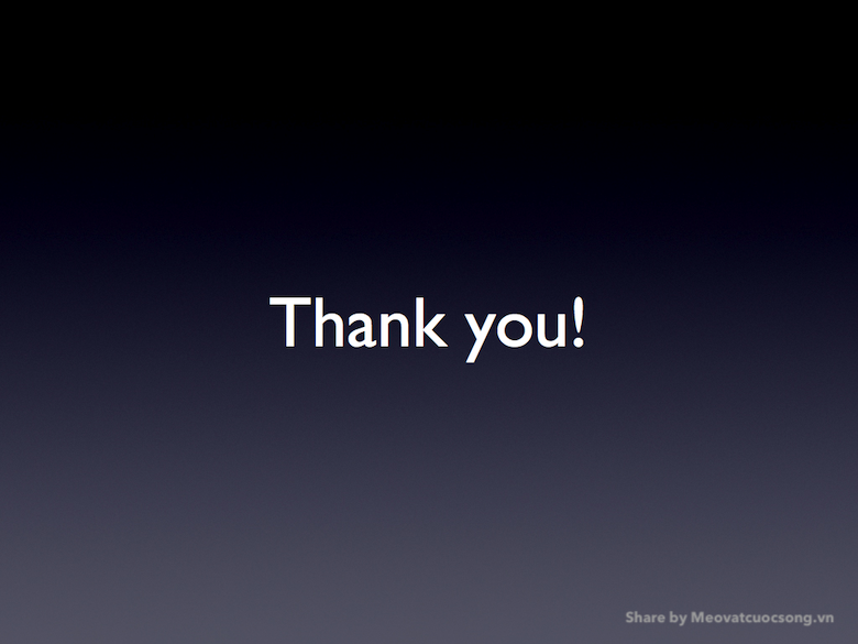 Slide kết thúc Powerpoint đẹp